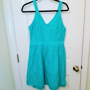 Nicole by Nicole Miller Teal Lace Sundress Size 8